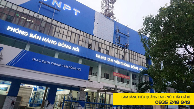 Thi công mặt dựng Alu tòa nhà VNPT
