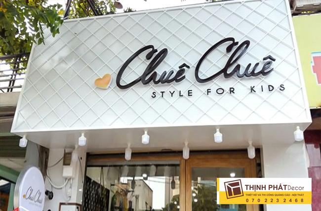 Thi công bảng hiệu quảng cáo shop thời trang
