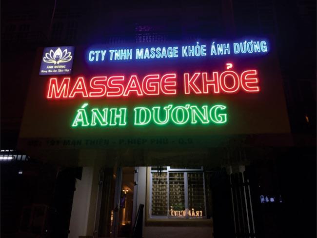 Làm bảng hiệu spa quận Tân Phú