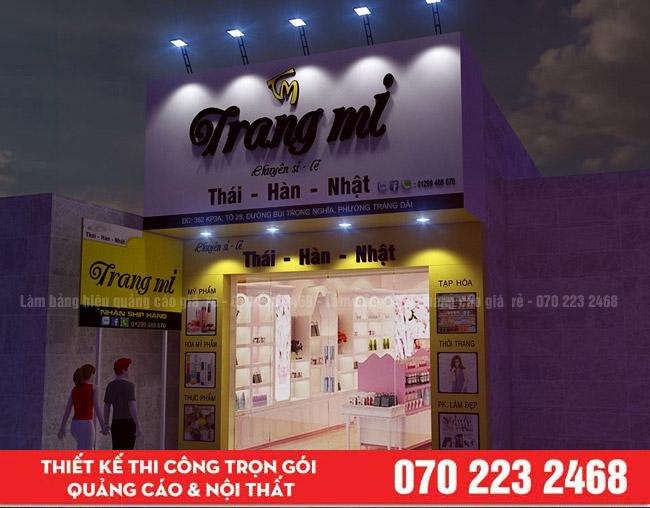 Làm bảng hiệu quận Tân Phú tại công ty quảng cáo Thịnh Phát