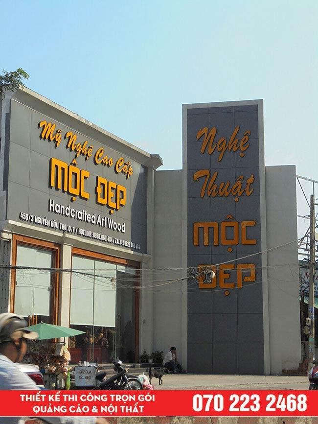 Làm bảng hiệu alu chữ nổi quận Tân Phú