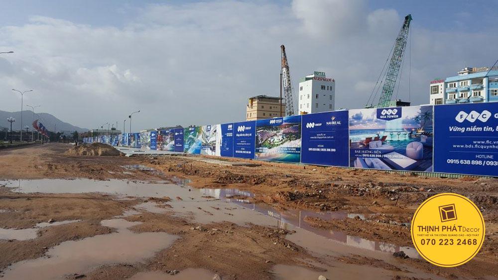 Thi công hoarding hàng rào xây dựng