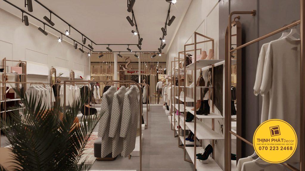 Thi công shop cửa hàng quần áo thời trang