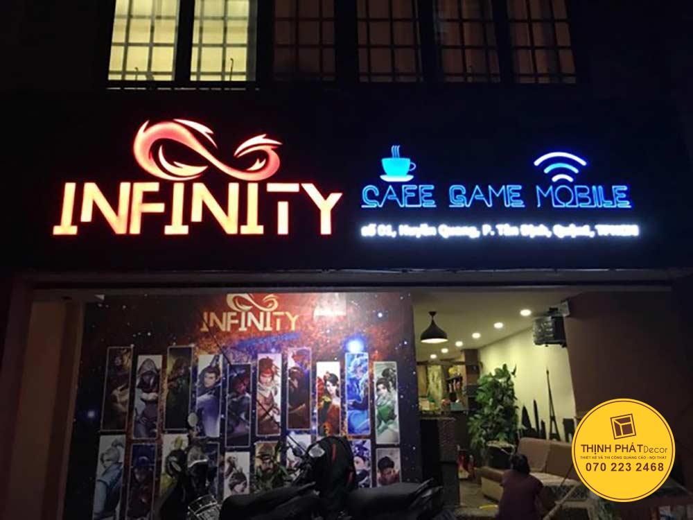 Thiết kế thi công làm bảng hiệu quán cafe tại quận Tân Phú