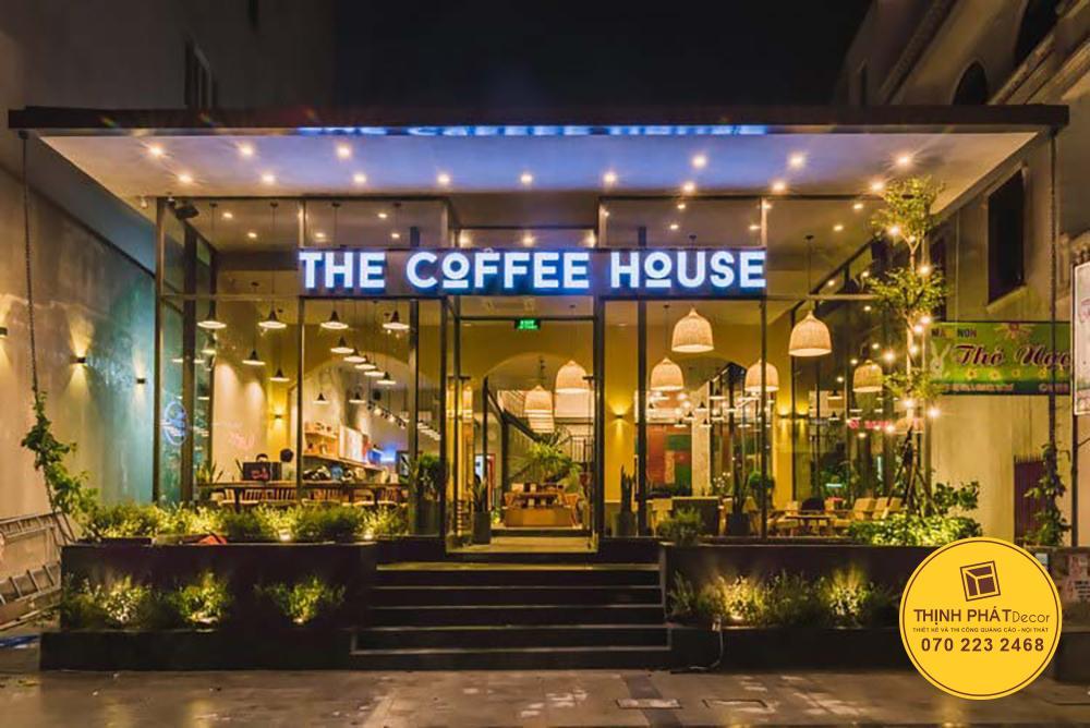 Chữ nổi mica gắn đèn Led trang trí bảng hiệu cafe