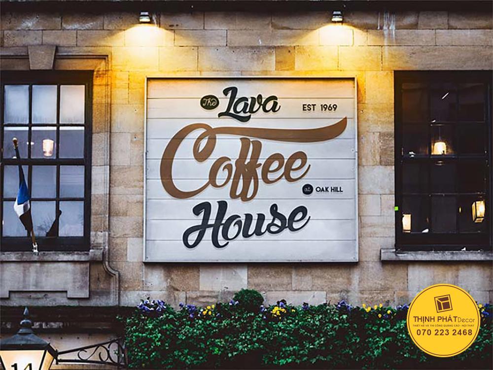 Mẫu bảng hiệu cafe đẹp