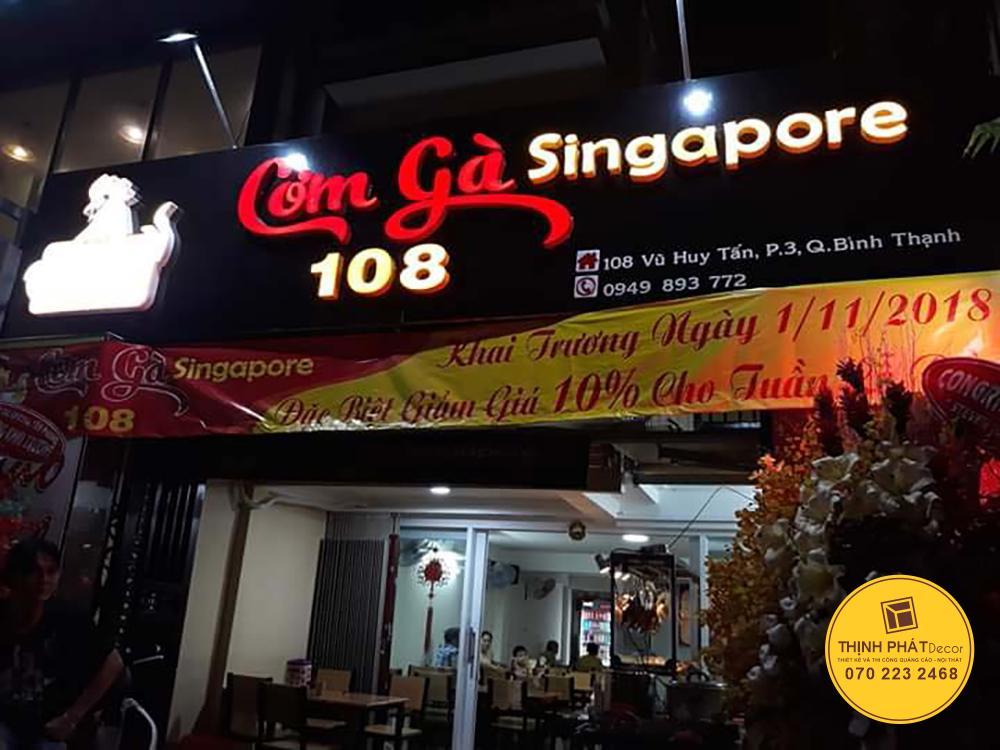 Mẫu bảng hiệu nhà hàng đẹp tại TPHCM