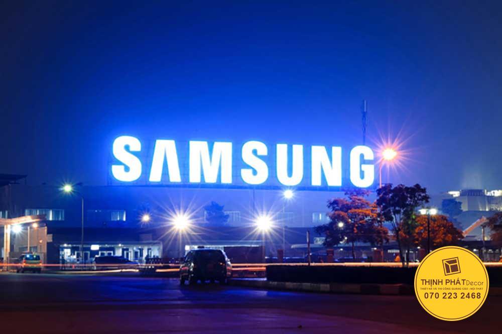Làm chữ nổi quảng cáo SÁMUNG tòa nhà tại đường Hồng Bàng quận 5