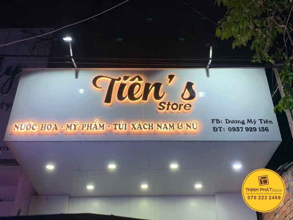 Thi công bảng hiệu alu chữ nổi có đèn tại quận Tân Phú