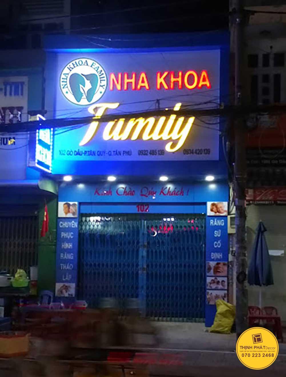 Mẫu bảng hiệu nha khoa đẹp quận Tân Phú