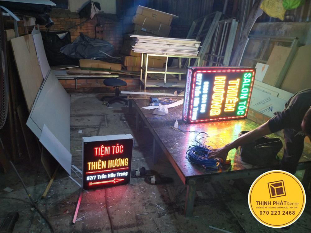 Gia công bảng hiệu hộp đèn tại xưởng sản xuất