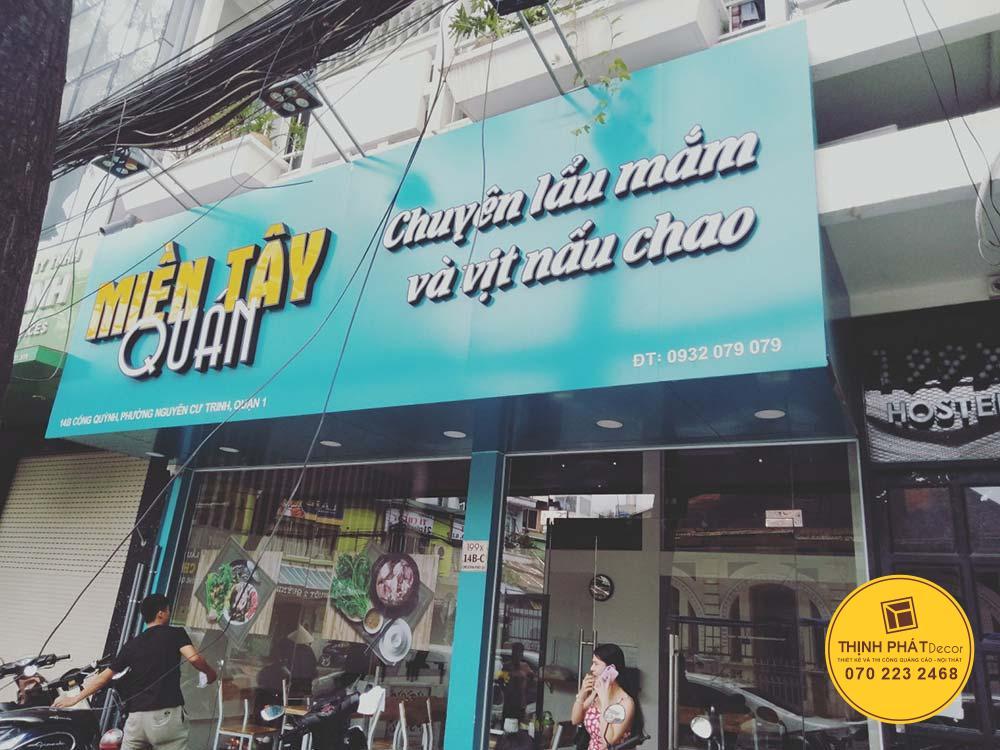 Làm bảng hiệu quảng cáo alu chữ nổi tại đường Nguyễn Cư Trinh, Quận 1