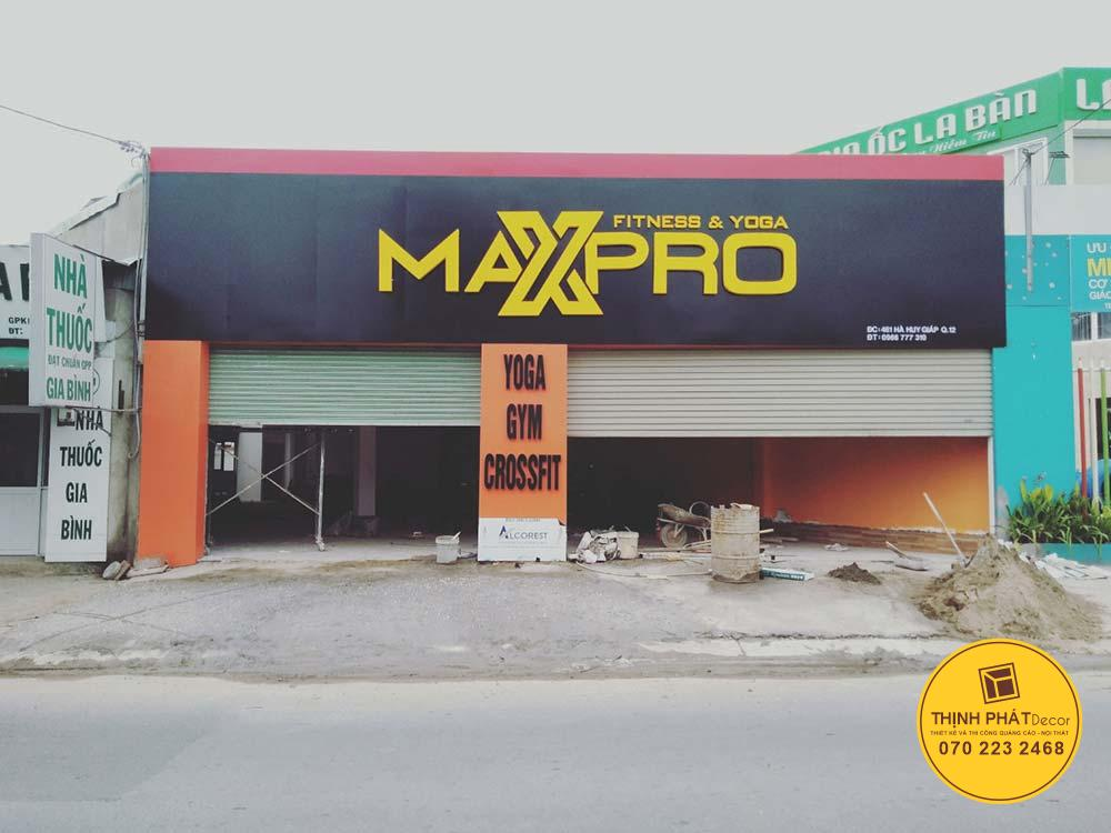 Thi công mặt dựng alu phòng Gym tại đường Hà Huy Giáp quận 12
