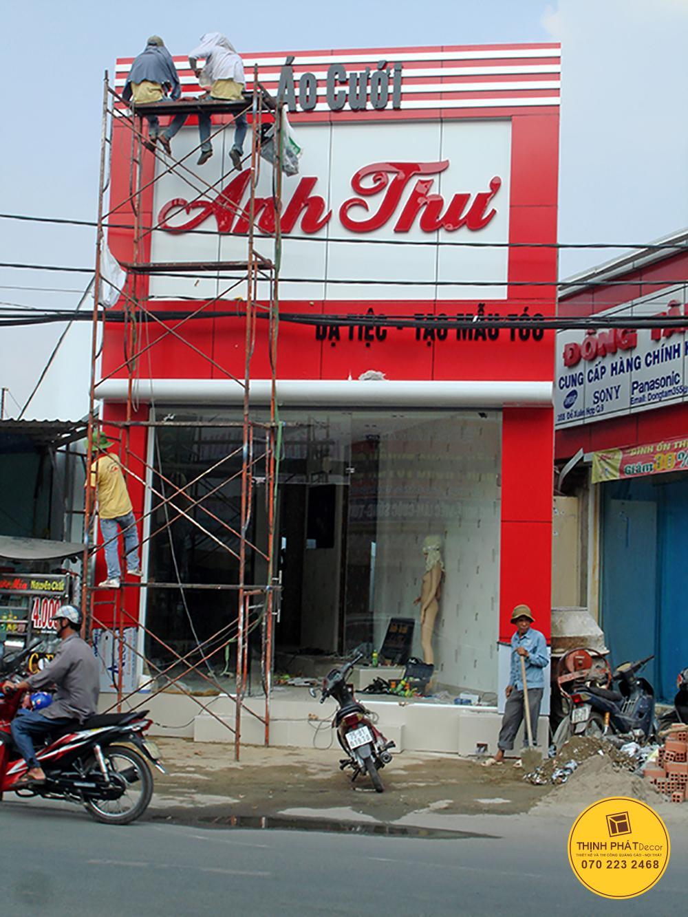 Mẫu bảng hiệu quảng cáo đẹp tại quận Bình Tân