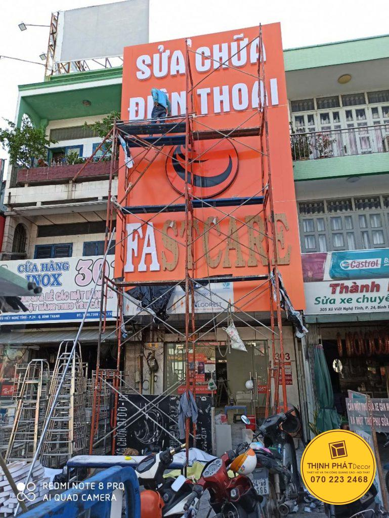 Thi công bảng hiệu quảng cáo giá rẻ tại TPHCM