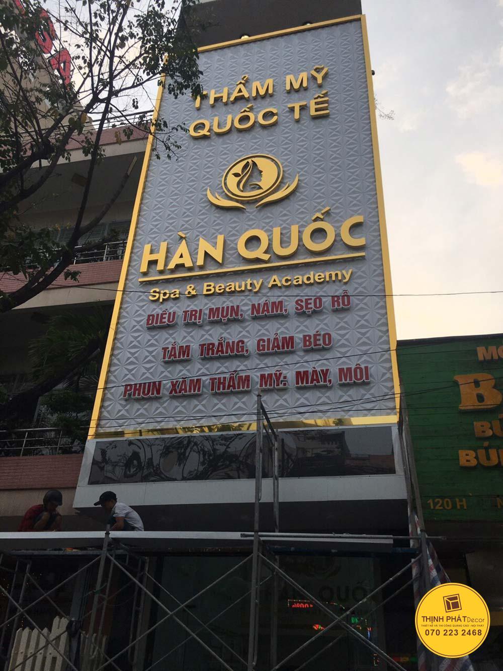 Thi công làm bảng hiệu quảng cáo giá rẻ quận Bình Tân