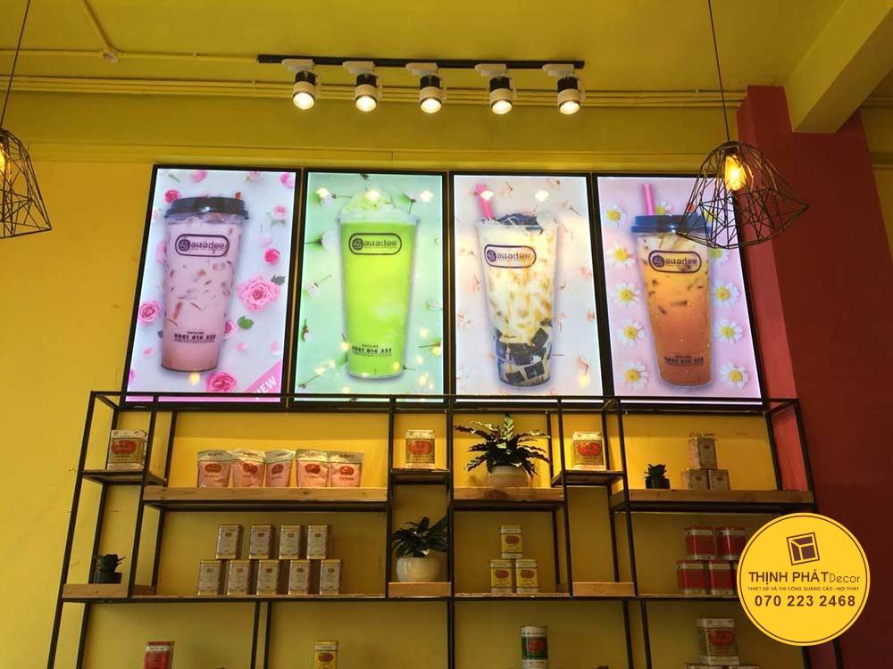 mẫu bảng hiệu cửa hàng trà sữa đẹp giá rẻ
