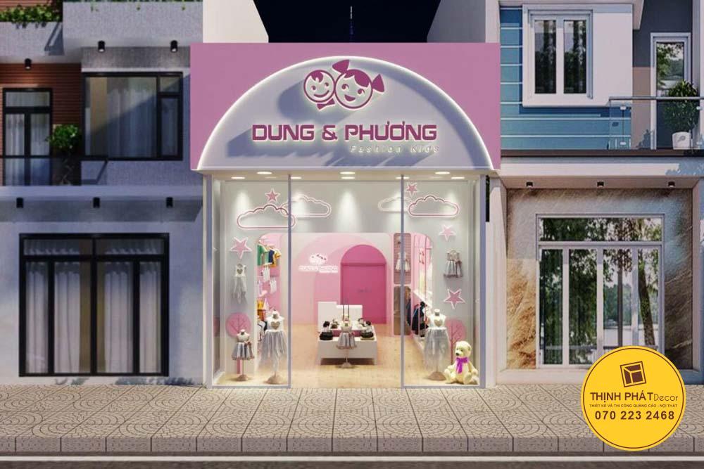 Bảng hiệu cửa hàng thời trang đẹp