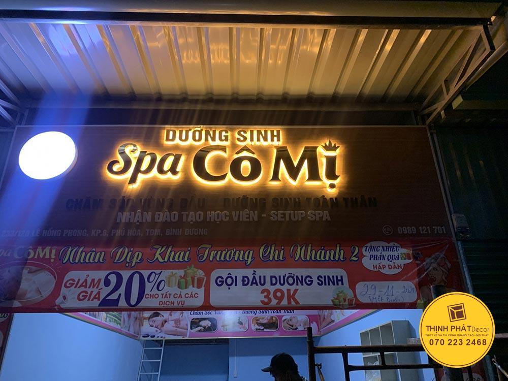 Làm bảng hiệu quảng cáo đẹp tại Bình Tân