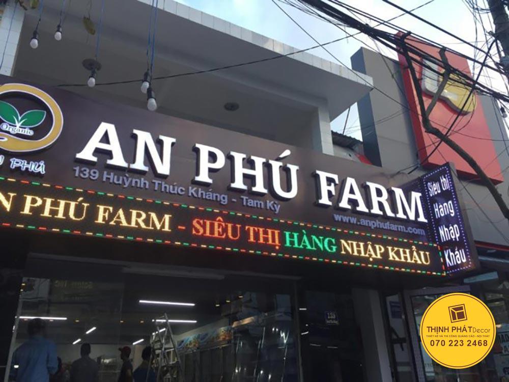 Thi công bảng quảng cáo cửa hàng siêu thị mini tại Đà Nẵng