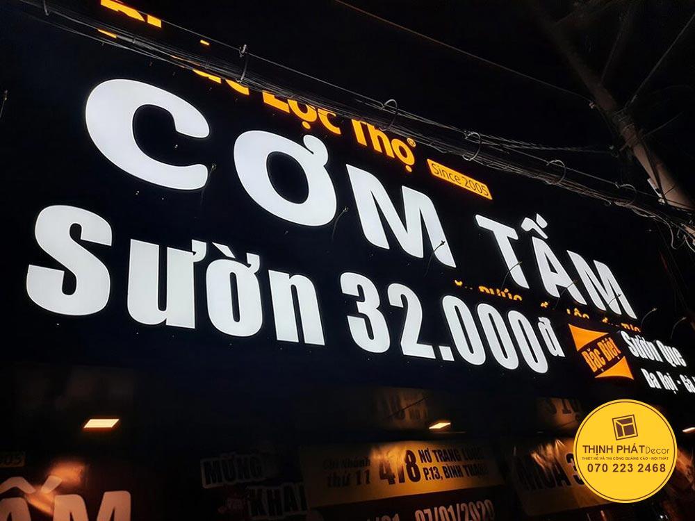 Mẫu bảng hiệu quảng cáo đẹp tại TPHCM