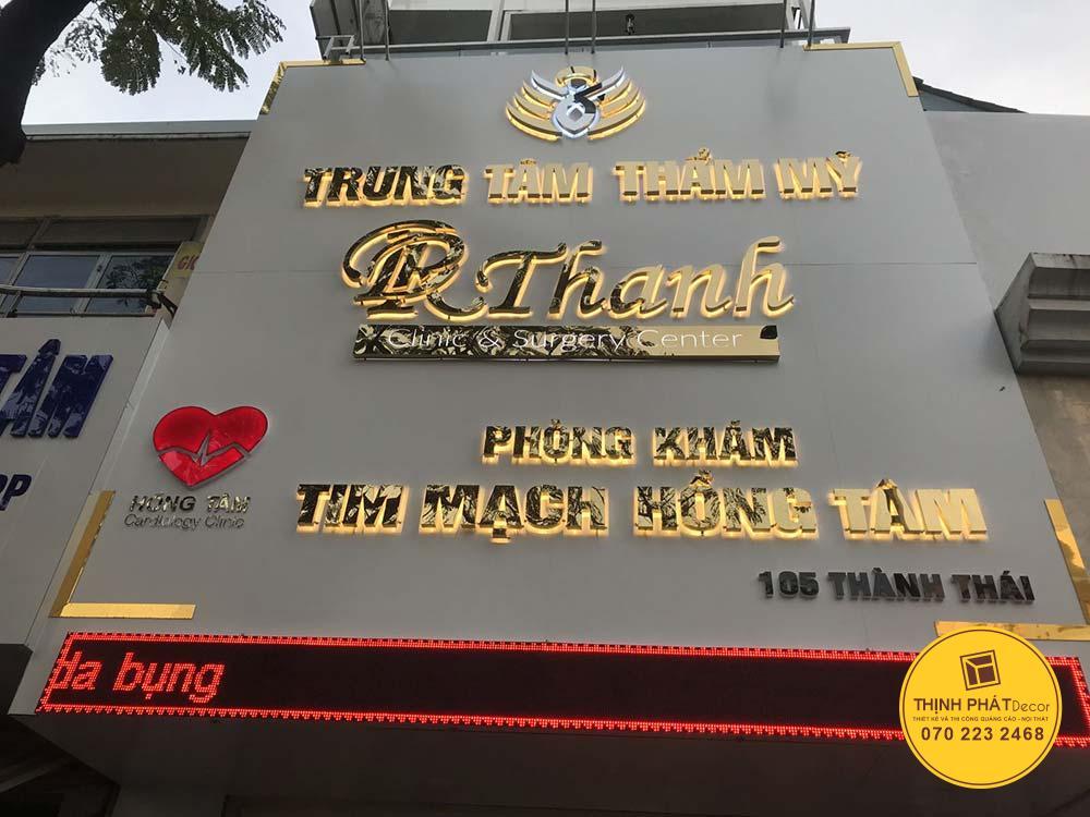 Mẫu bảng hiệu chữ nổi giá rẻ đẹp tại TPHCM