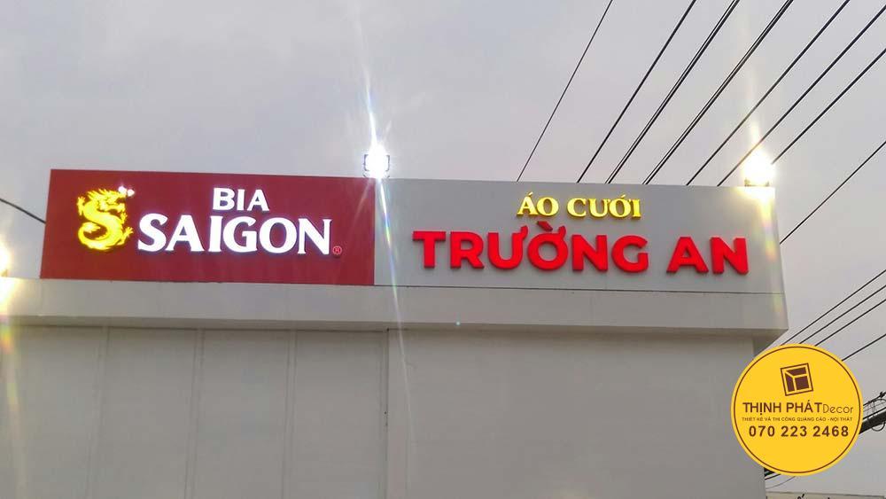 Thi công hệ thống bảng hiệu bia Sài Gòn tại TPHCM