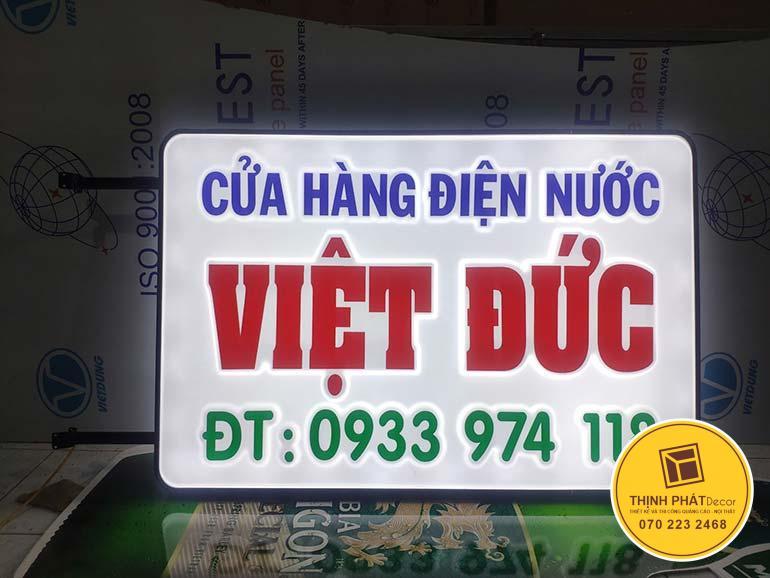 Làm bảng hiệu hộp đèn quảng cáo giá rẻ TPHCM
